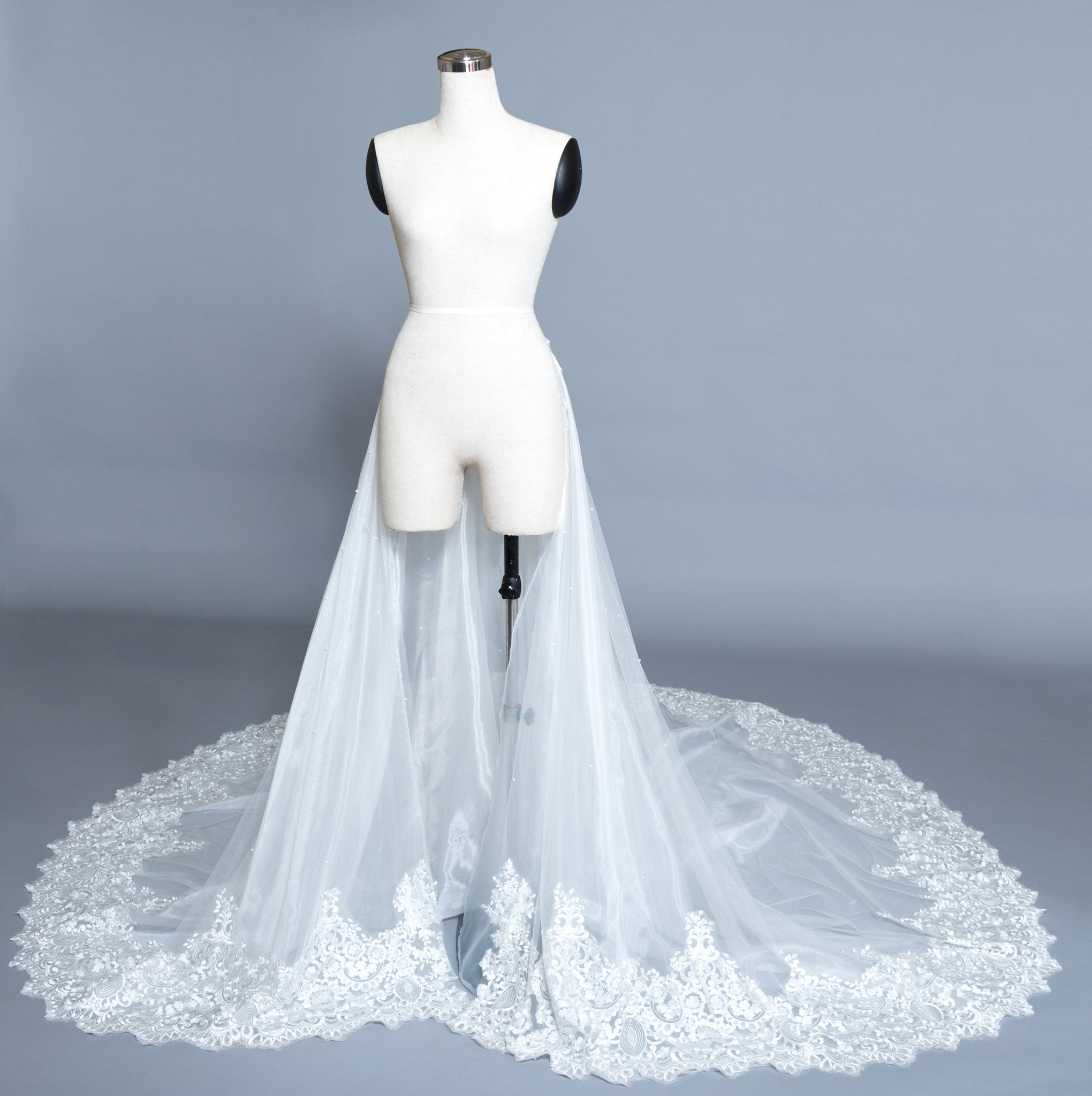 Detachable Lace Wedding Train (#Beryl) - Dream Dresses by P.M.N  - 2