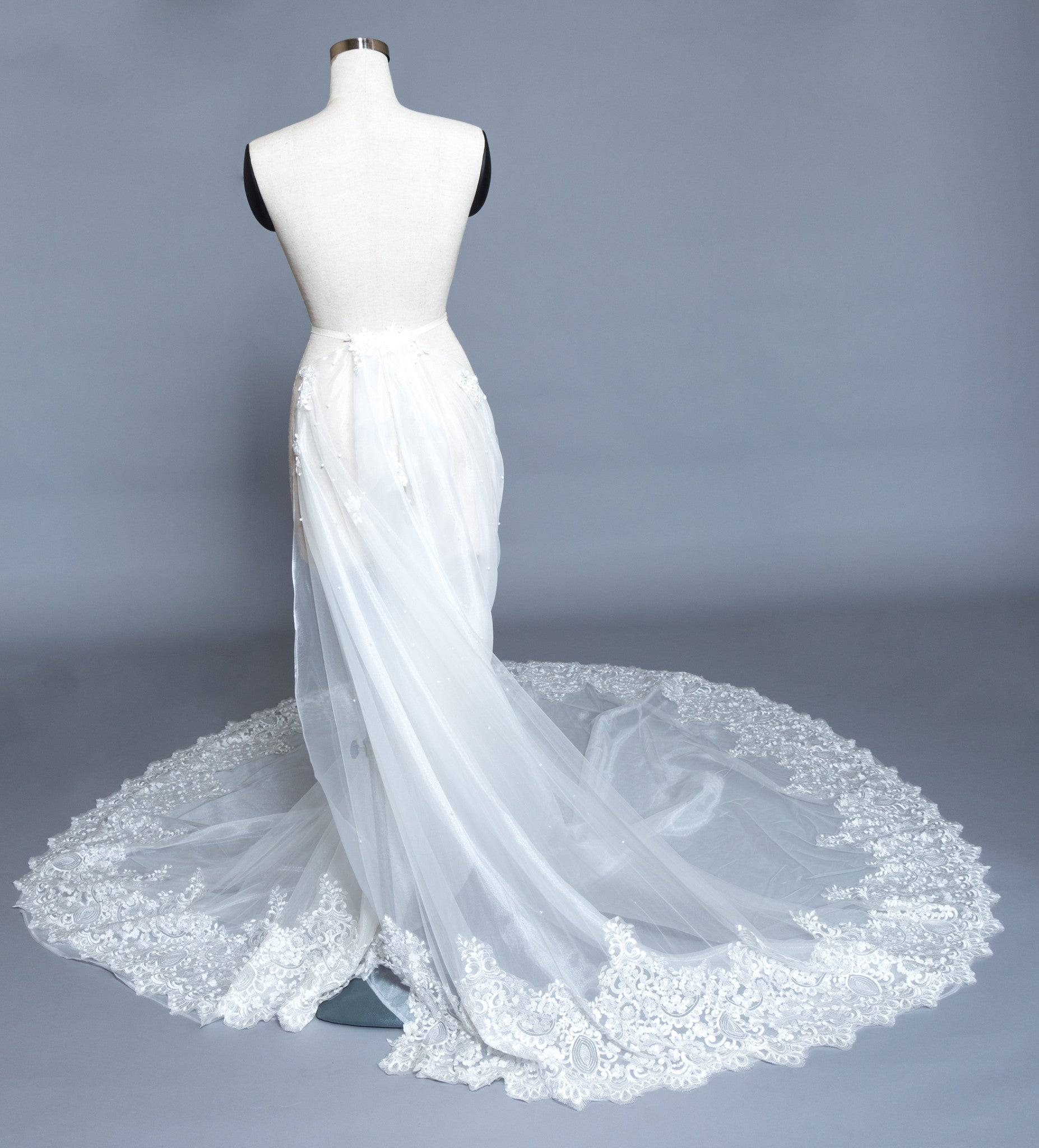 Detachable Lace Wedding Train (#Beryl) - Dream Dresses by P.M.N  - 4