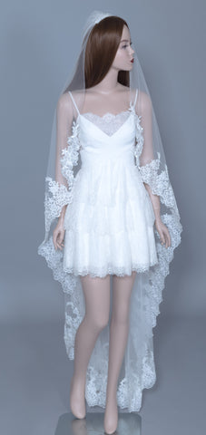 Lace Wedding Veil (#Helia) - Dream Dresses by P.M.N  - 1