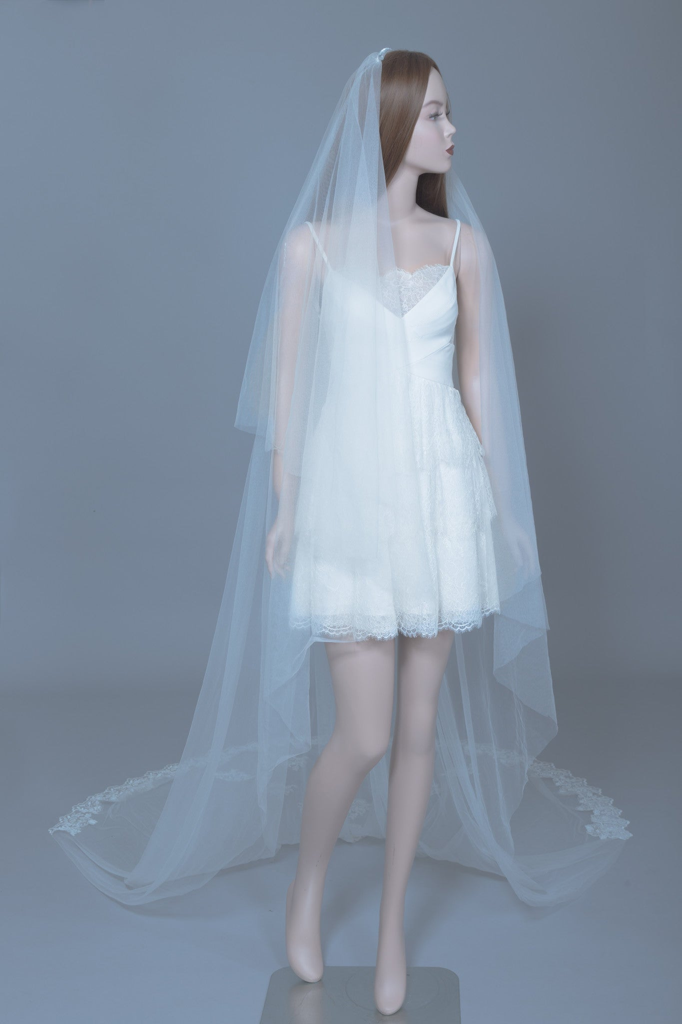 Cathedral Wedding Veil (#Chloris) - Dream Dresses by P.M.N  - 3