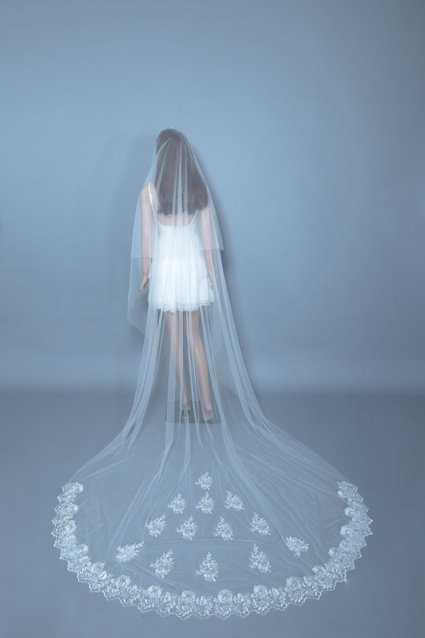 Cathedral Wedding Veil (#Chloris) - Dream Dresses by P.M.N  - 1