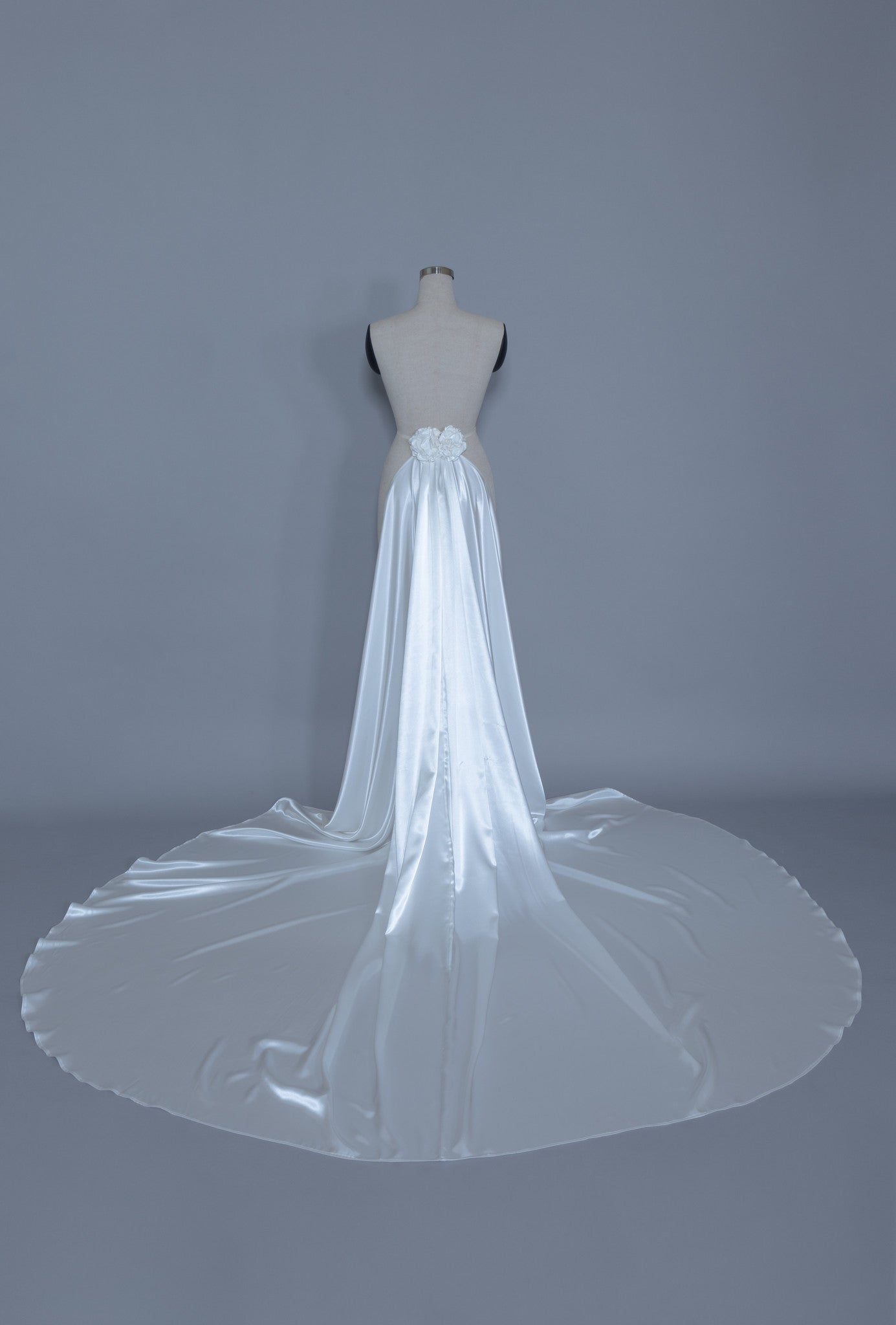 Detachable Satin Wedding Train (#Calixta) - Dream Dresses by P.M.N  - 3