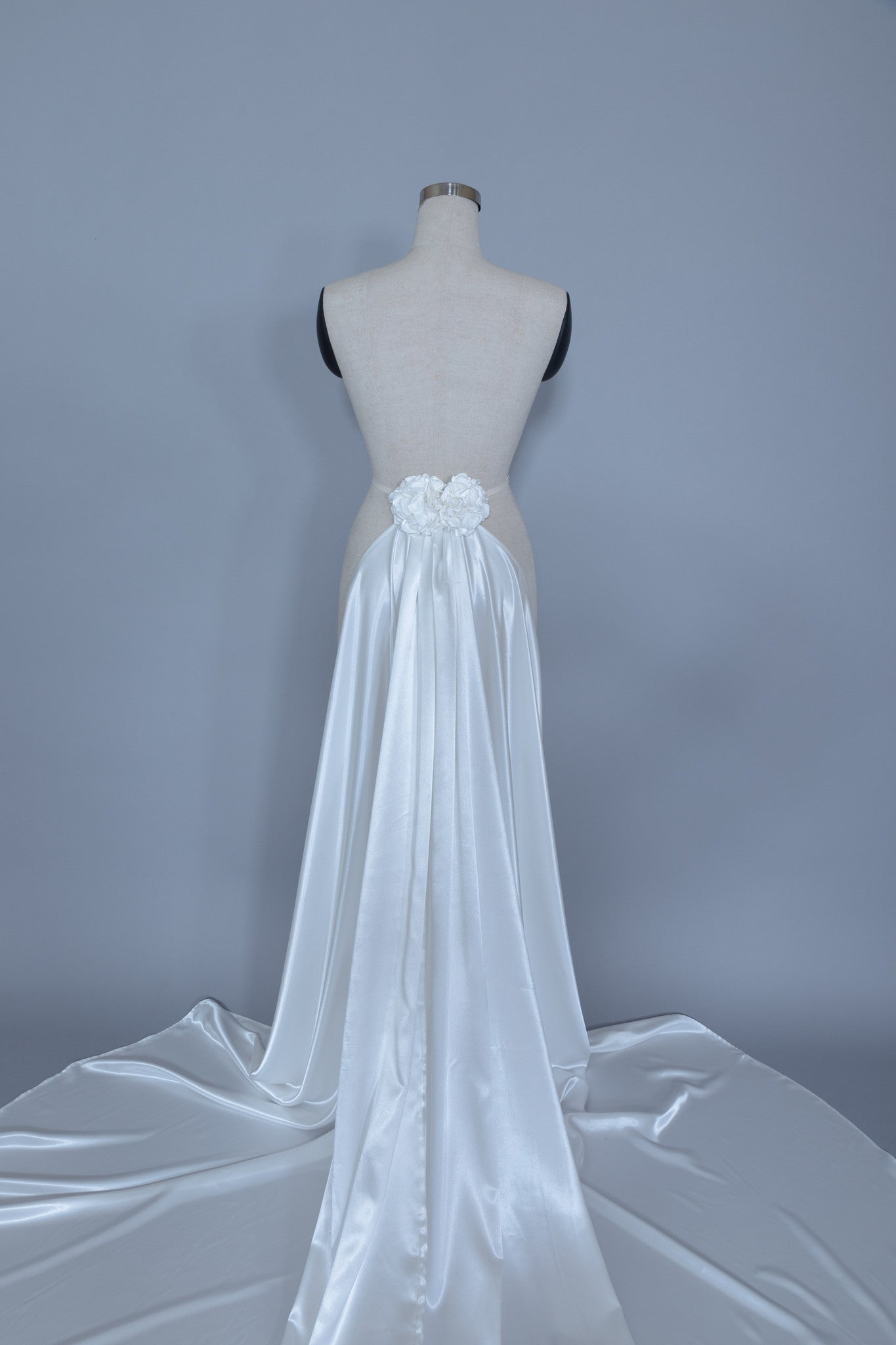 Detachable Satin Wedding Train (#Calixta)