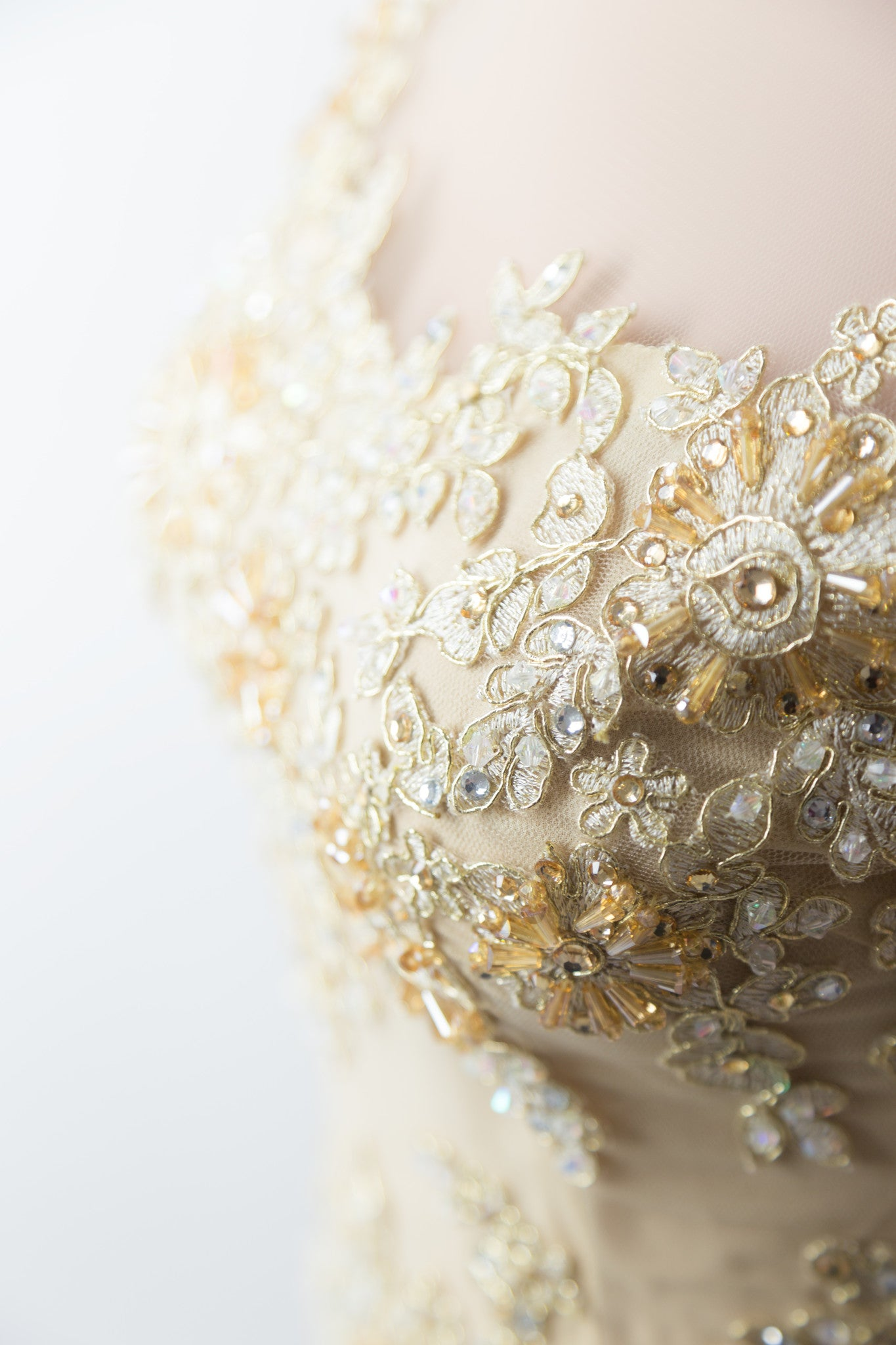 Gold Ao Dai | Custom Made Vietnamese Bridal Dress (#FLORENCE)