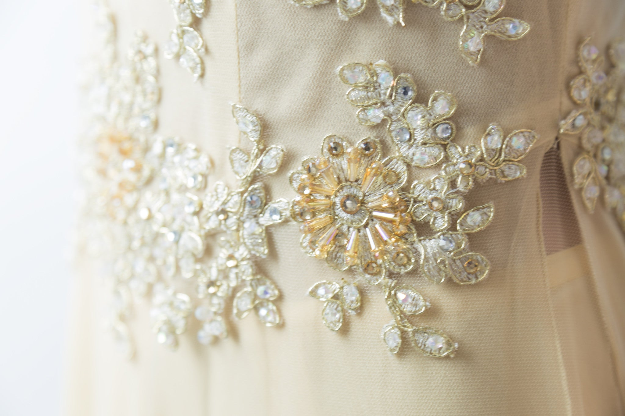Champagne Ao Dai-Custom Made Vietnamese Bridal Dress (#Florence) - Dream Dresses by P.M.N  - 8