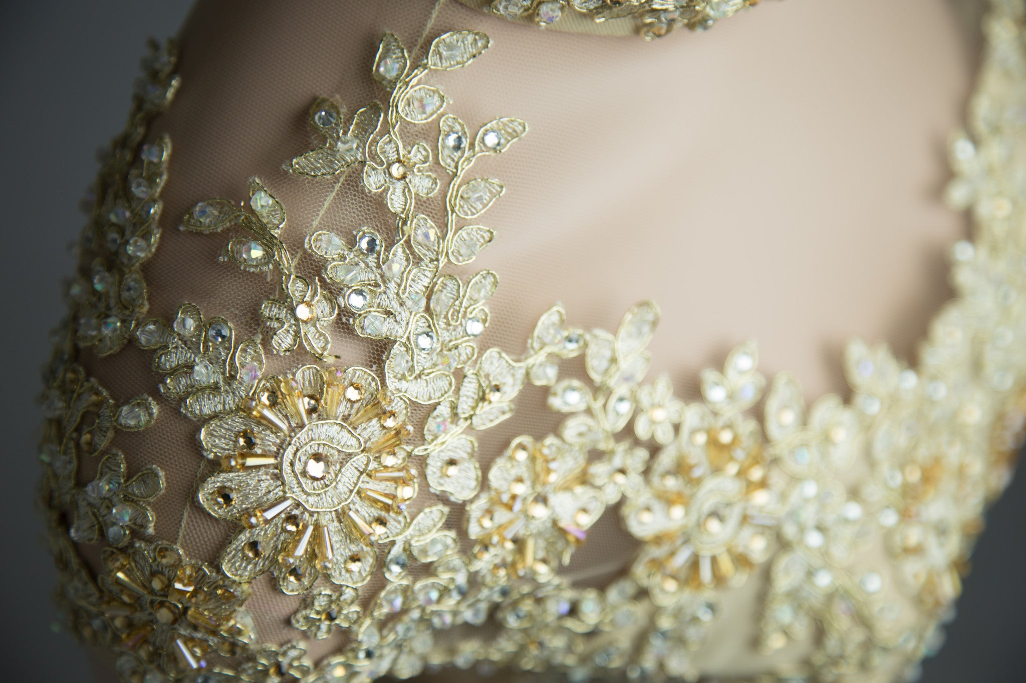 Champagne Ao Dai-Custom Made Vietnamese Bridal Dress (#Florence) - Dream Dresses by P.M.N  - 5