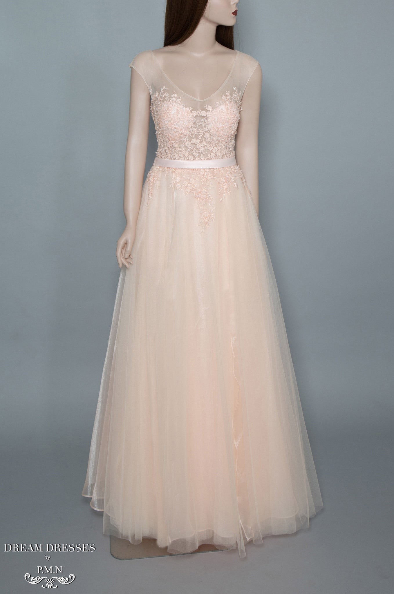 Blush Pink Tulle Gown (#Joie) - Dream Dresses by P.M.N  - 1