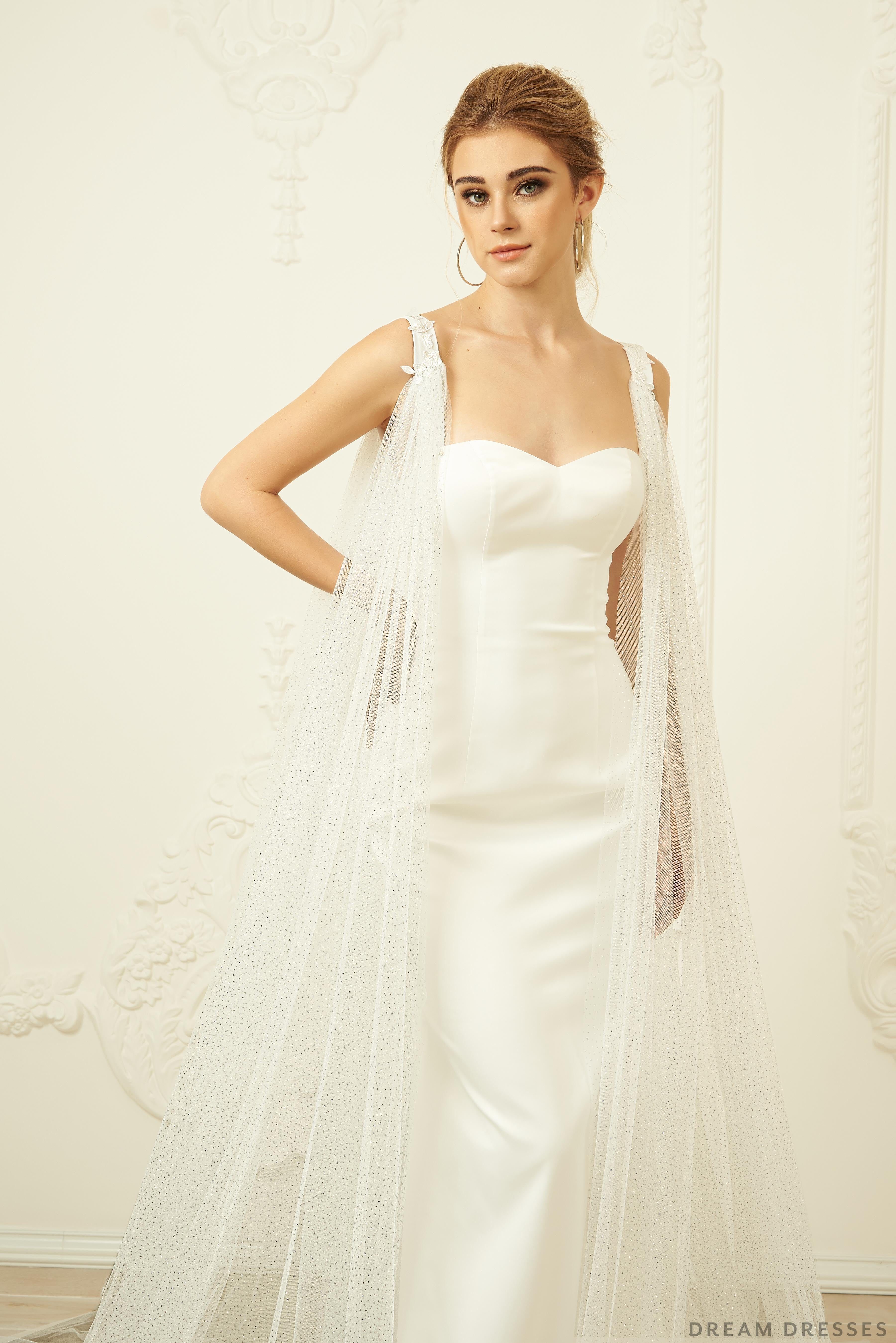 Detachable Wedding Sleeve Cape (#ISOTTA)