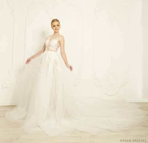 A-line Lace Wedding Dress (#Lavinia)