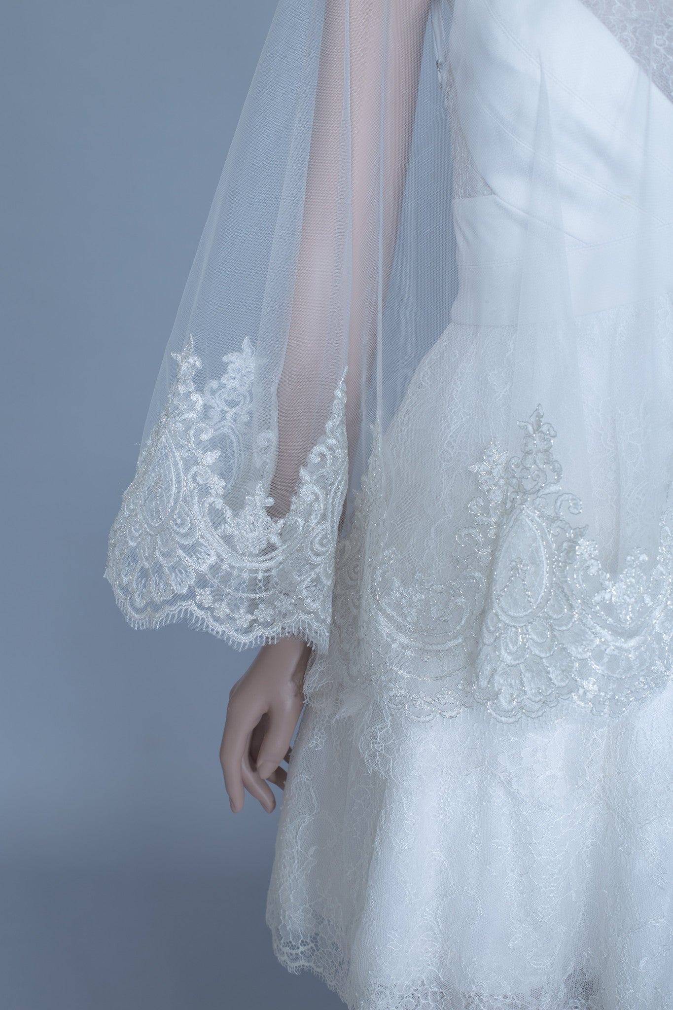 Lace Bridal Cape (#Leora) - Dream Dresses by P.M.N  - 6