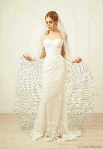 Cathedral Veil With Crystals (#Luisa)
