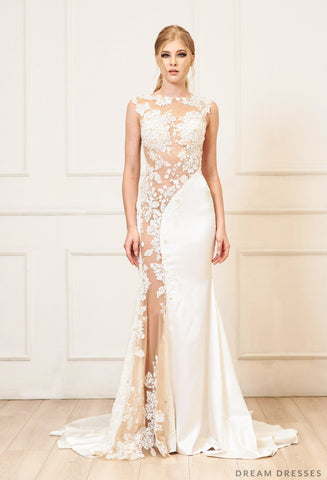 Illusion Cut-Out Wedding Dress (#Lucille)