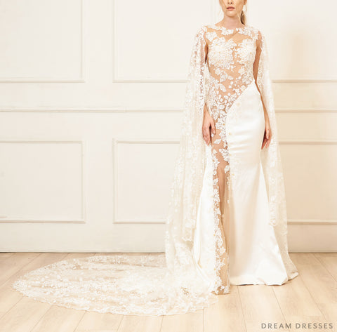 Lace Bridal Cape (#EMILE)