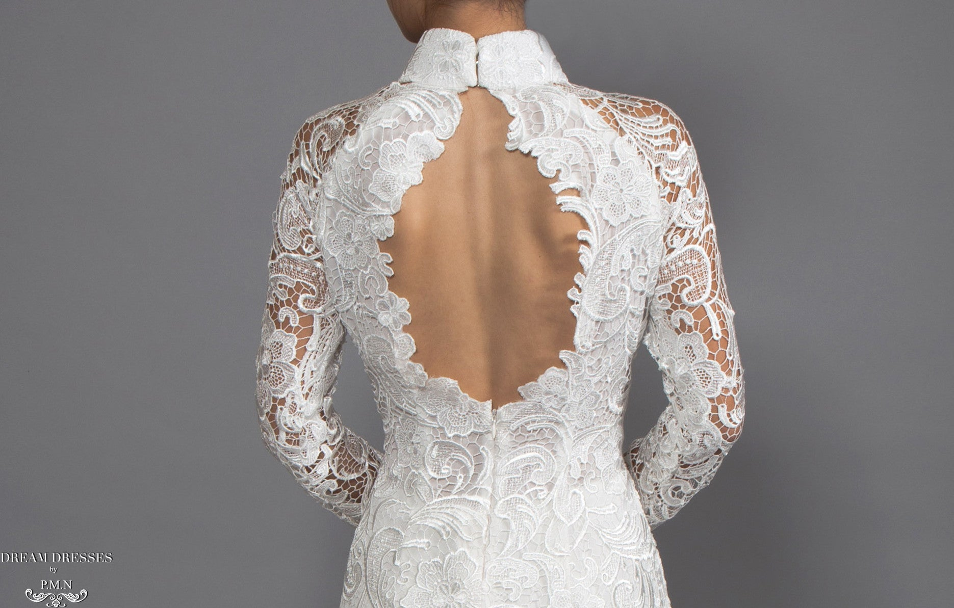 White Ao Dai | Vietnamese Lace Bridal Dress (#MELISSA)