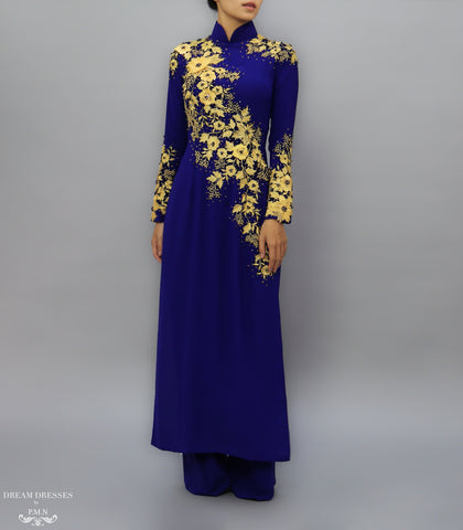 Blue Ao Dai / Mother of The Bride Ao Dai (#MARA)