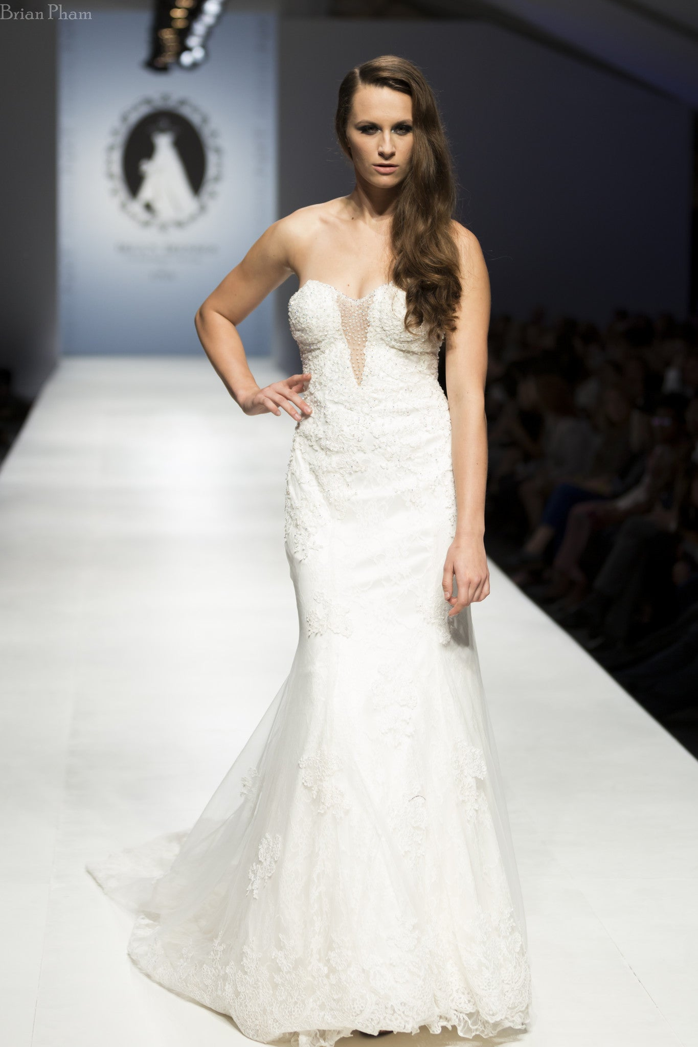 Strapless Plunging Neckline Mermaid Wedding Dress (Style Rosaleen #PB252) - Dream Dresses by P.M.N  - 4