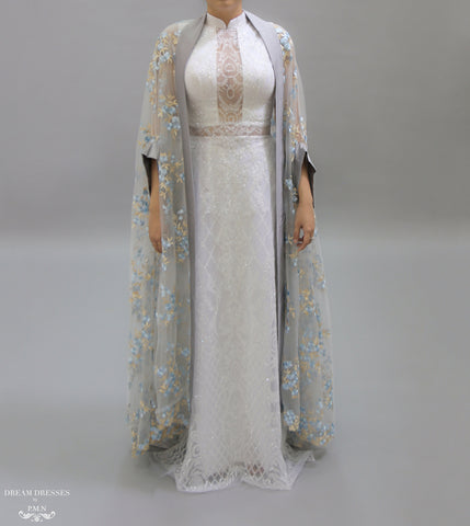 Floor Length Bridal Cape (#Nahla)