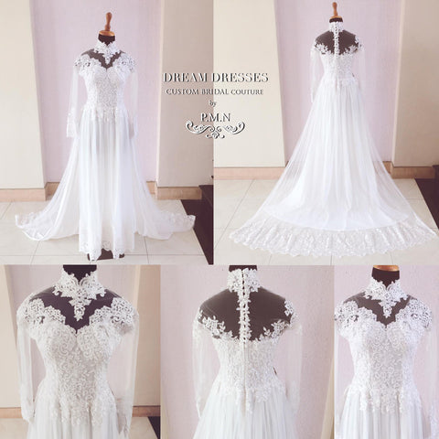 WHITE AO DAI-Custom Made Vietnamese Traditional Bridal Dress (#PB121) - Dream Dresses by P.M.N  - 1
