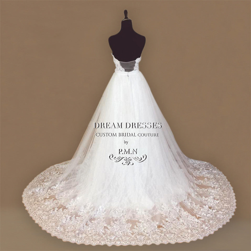 Strapless Lace Ball Gown (#Kallie)