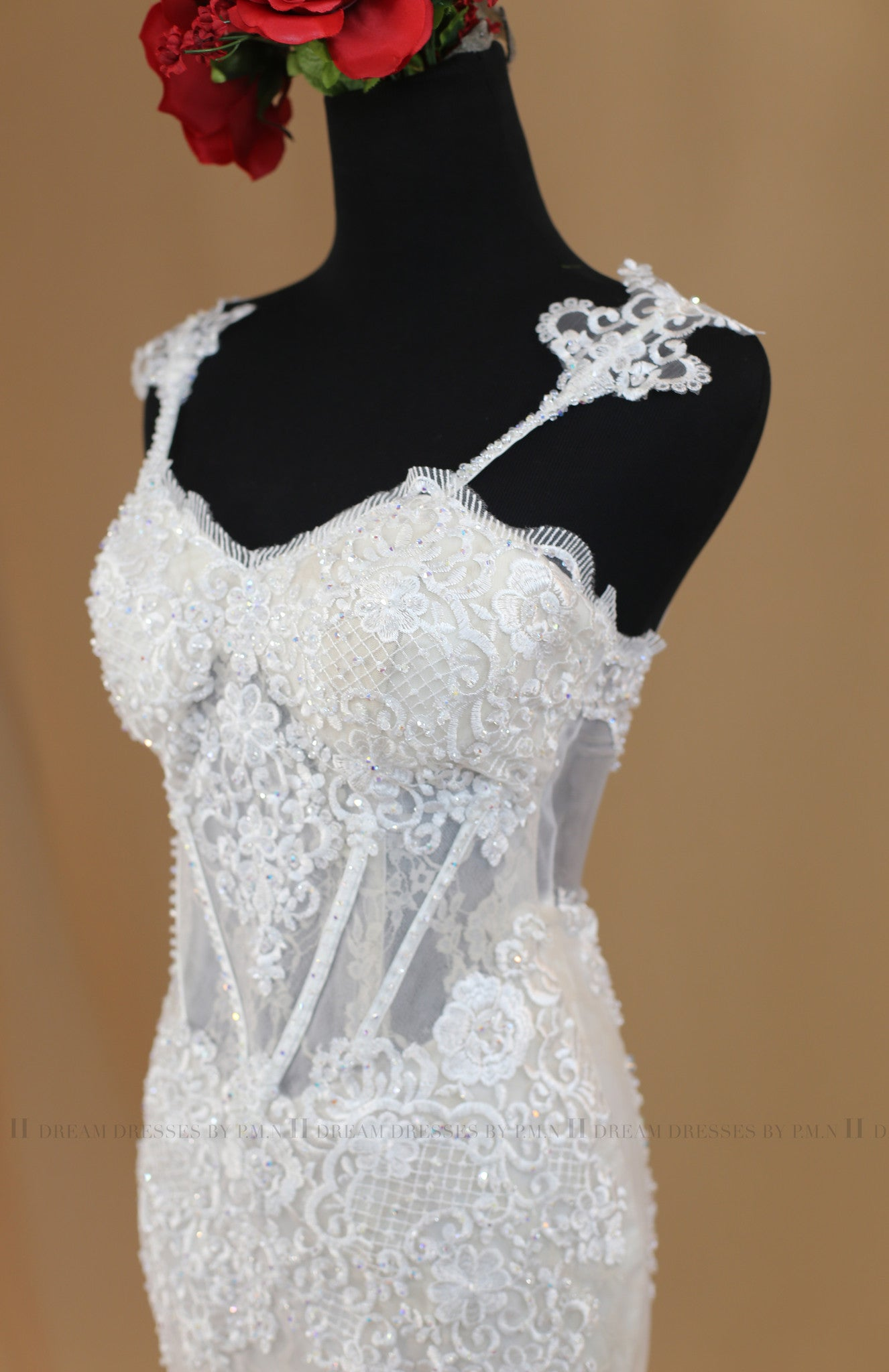 Short Lace Wedding Dress (#Victoria)