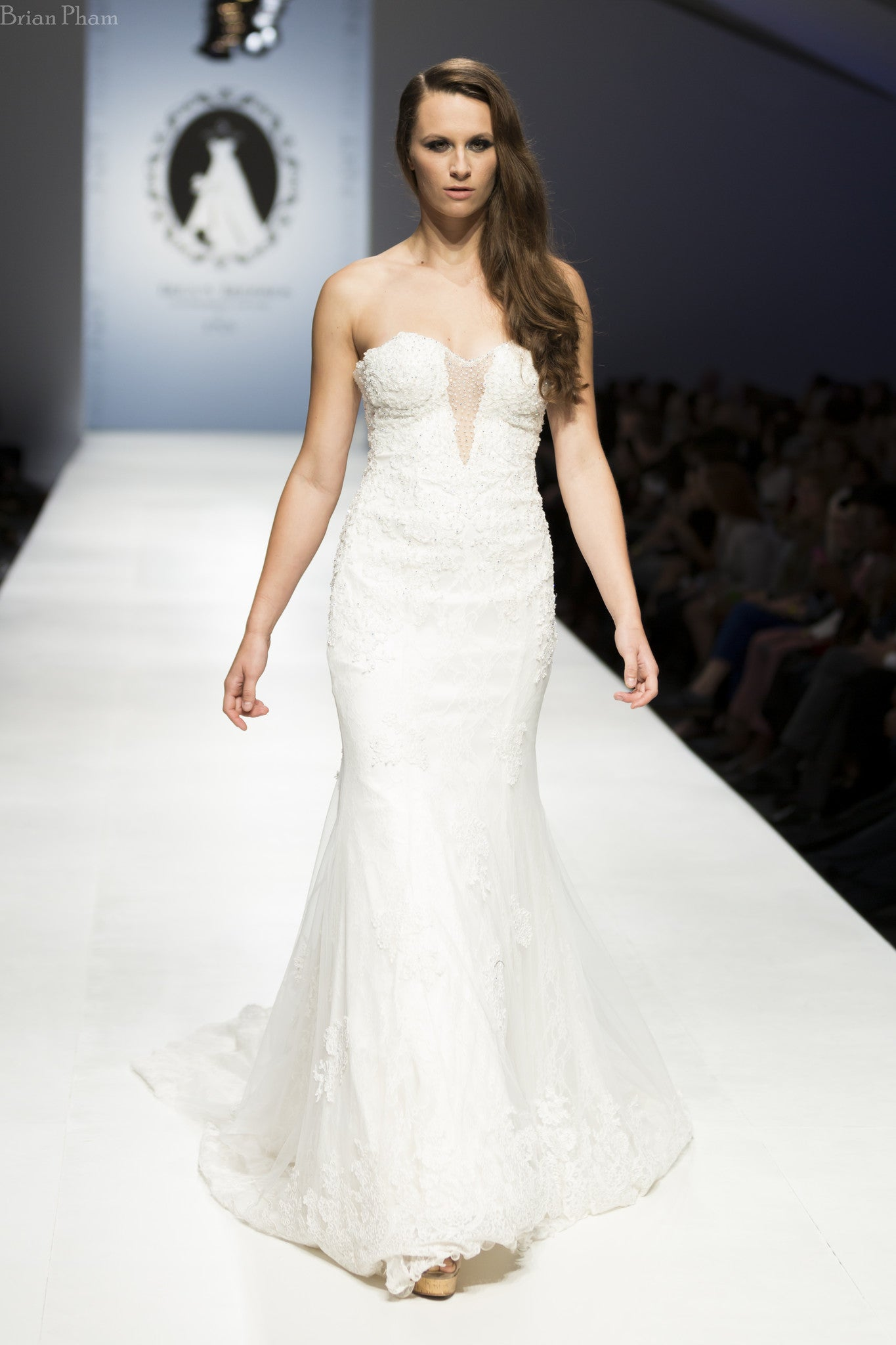 Strapless Plunging Neckline Mermaid Wedding Dress (Style Rosaleen #PB252) - Dream Dresses by P.M.N  - 3