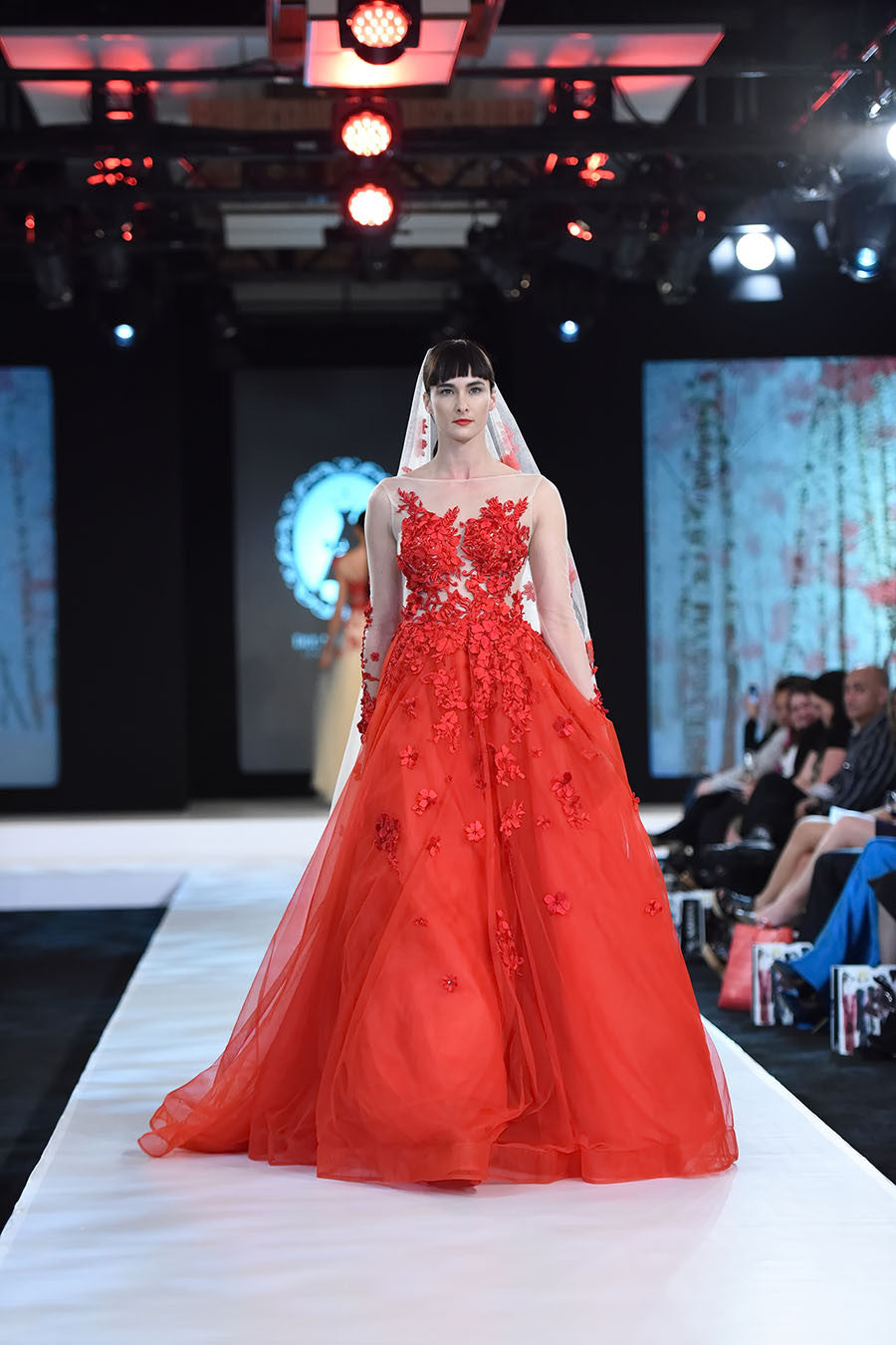 Red Ball Gown (Style Veronica #FW16101) - Dream Dresses by P.M.N  - 1