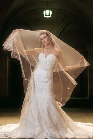 Two Tier Tulle Wedding Veil (#Rebekah)