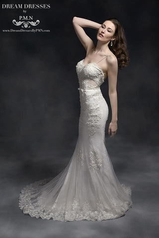 Open Back Mermaid Wedding Dress (Style #SS16311) - Dream Dresses by P.M.N  - 1