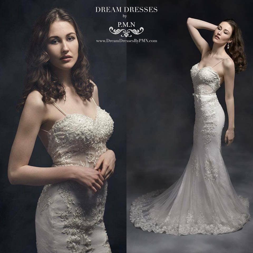 Open Back Mermaid Wedding Dress (Style #SS16311) - Dream Dresses by P.M.N  - 4