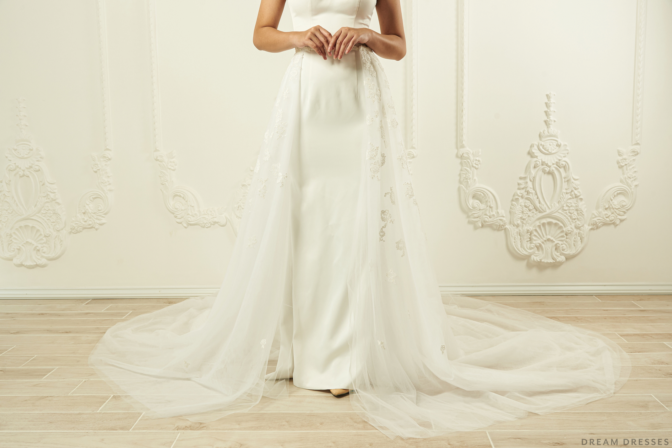 Lace Detachable Bridal Train (#Callie)