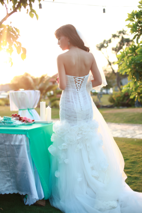 Mermaid Wedding Dress With Lace Up Back (# PRISCILLA)