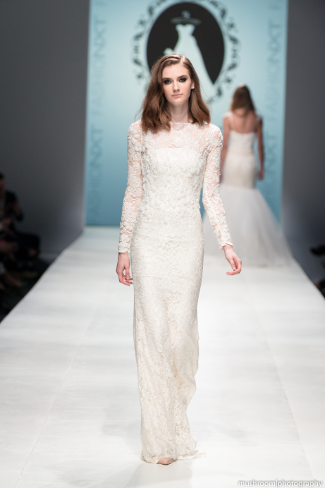 Long Sleeve All Over Lace Wedding Dress (#SS16108)