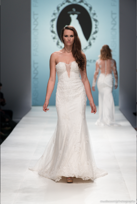 Strapless Plunging Neckline Mermaid Wedding Dress (Style Rosaleen #PB252) - Dream Dresses by P.M.N  - 1