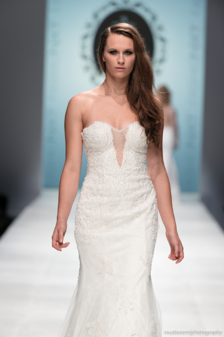 Strapless Plunging Neckline Mermaid Wedding Dress (Style Rosaleen #PB252) - Dream Dresses by P.M.N  - 2