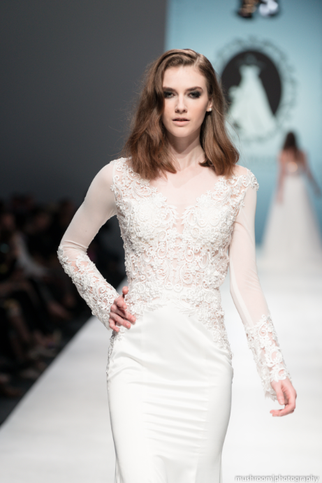 Modern Long Sleeve Wedding Dress (#SS16101) - Dream Dresses by P.M.N  - 4