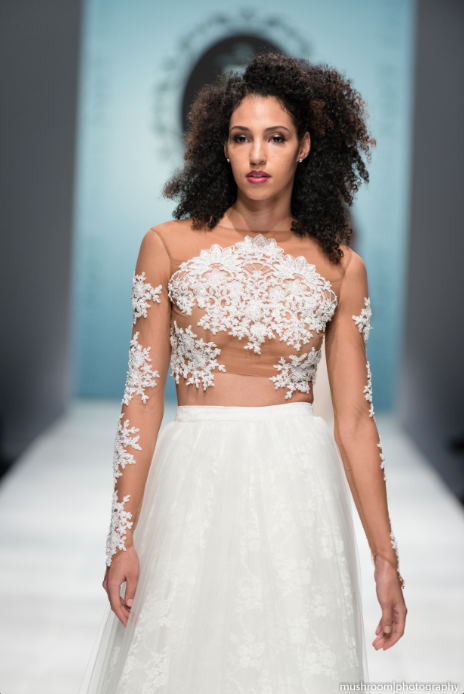 Long Sleeve Bridal Crop Top (#SS16104) - Dream Dresses by P.M.N  - 9