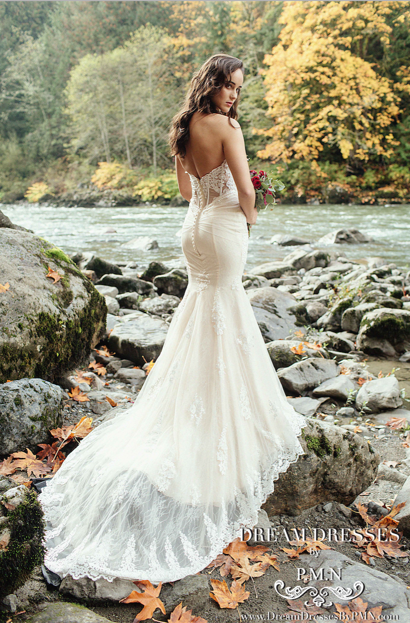 Mermaid Wedding Dress With Cathedral Train (#Alexia)
