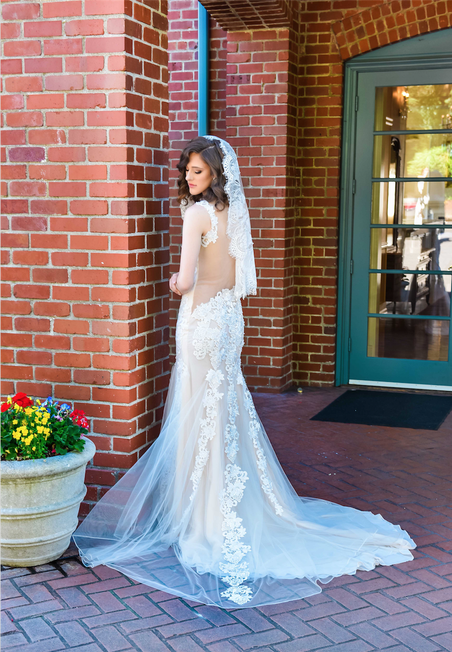 Asymmetrical Sheer Back Wedding Dress (#Jessica)
