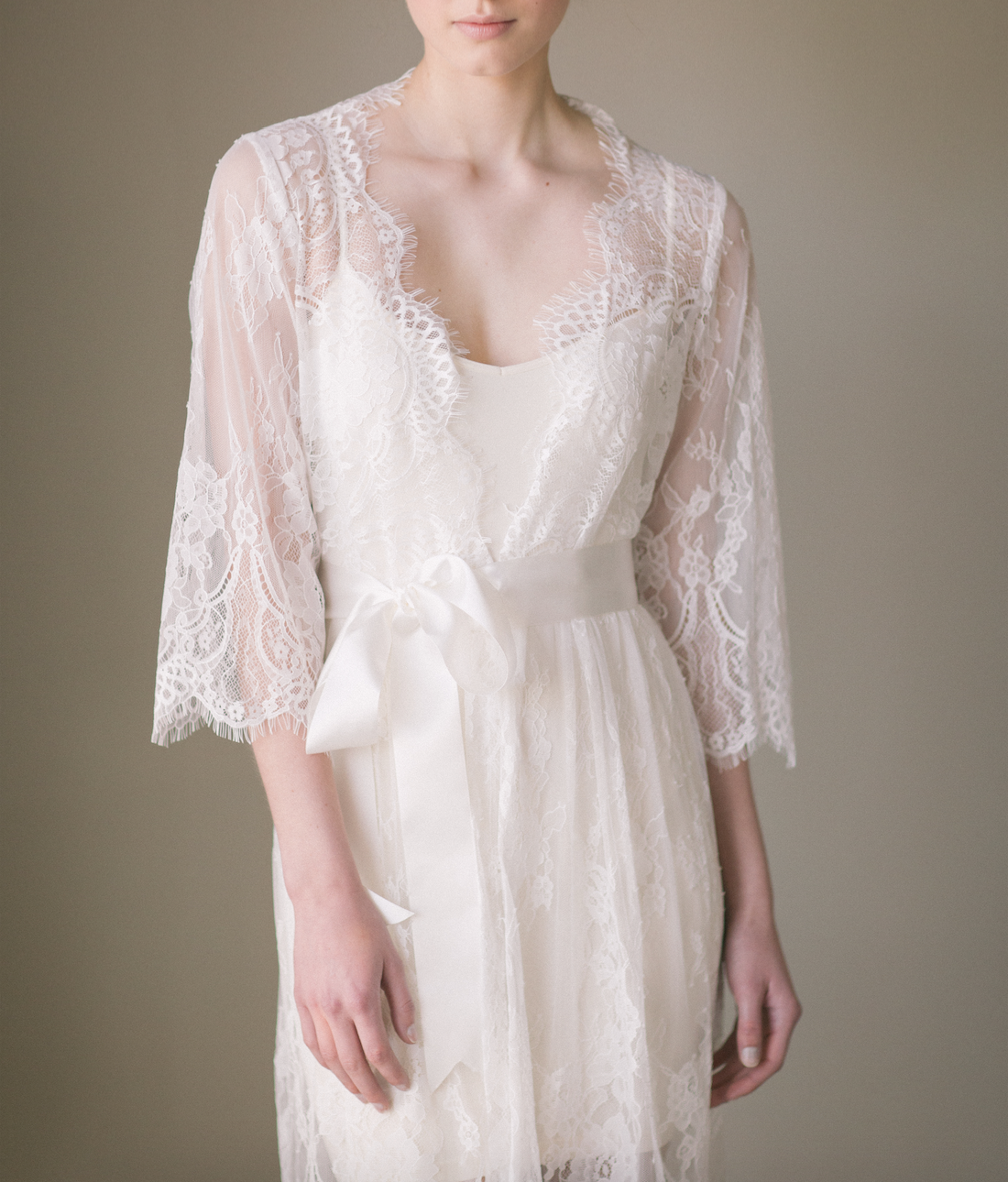 Bridal Lace Robe Kimono (#Isabella) - Dream Dresses by P.M.N  - 4