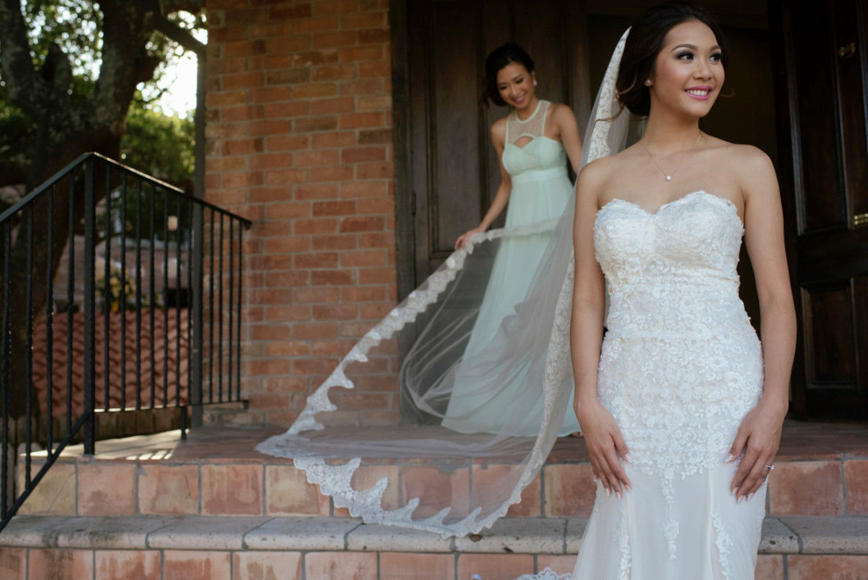 Lace Mermaid Wedding Dress With illusion Back (#Halette)