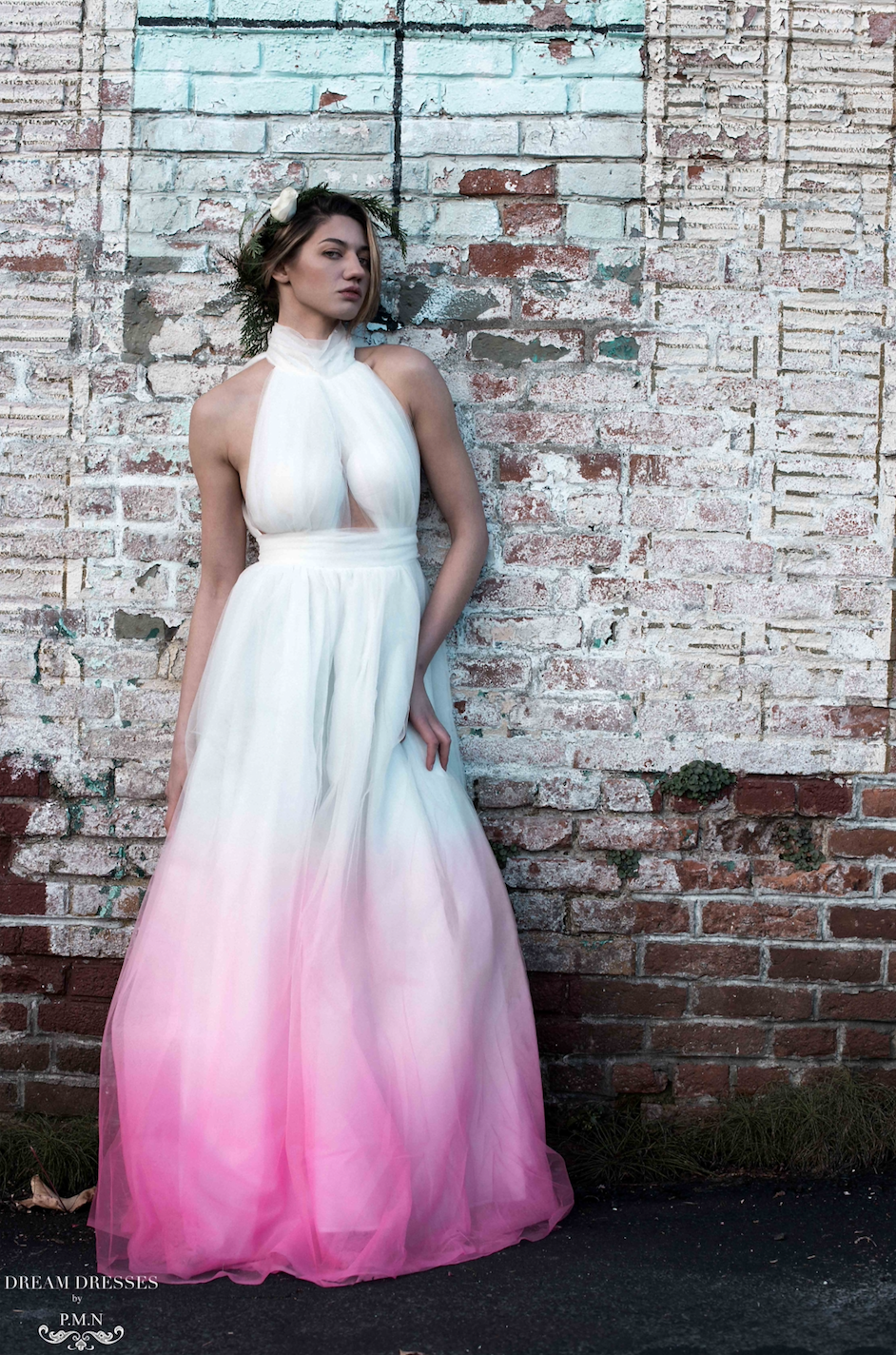 Ombre Pink Tulle Gown (#Perrine)