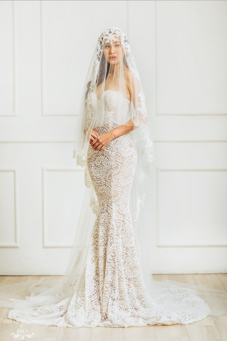 Old Hollywood Glamour Inspired Bridal Veil (#Meliza)