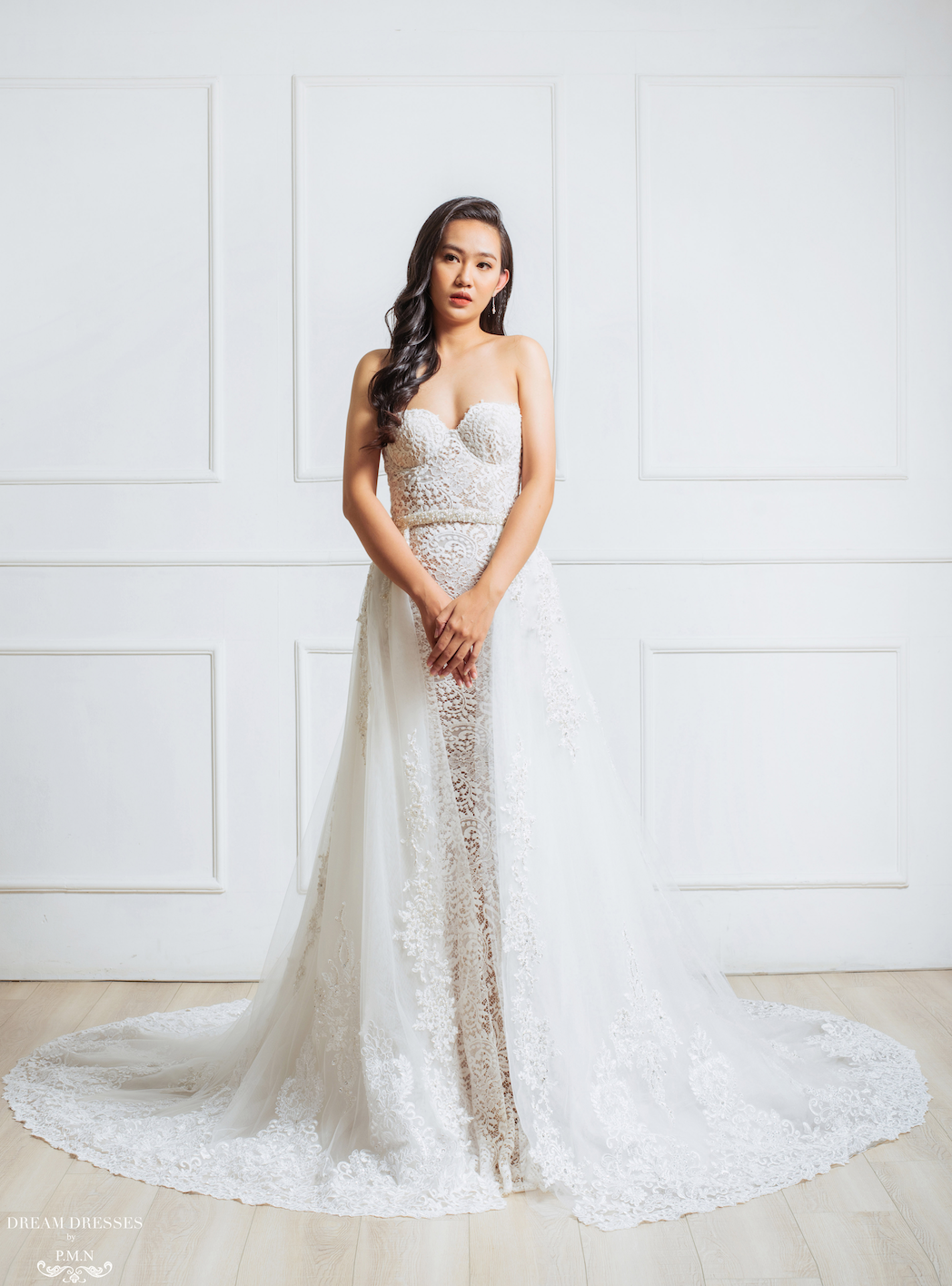 Embellished Detachable Bridal Overskirt (#Myra)