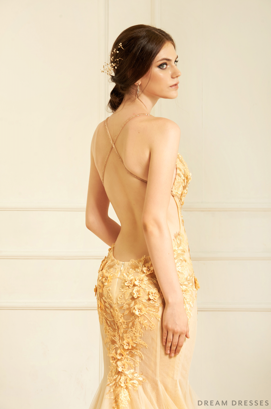 Gold Mermaid Wedding Gown (#Katerina )