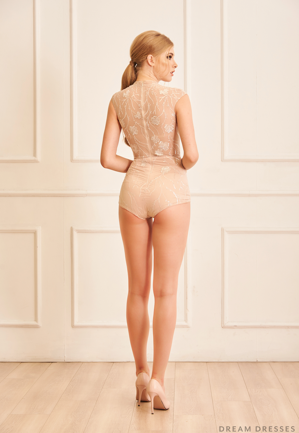 Sequin Lace Bridal Bodysuit (#Monaco)