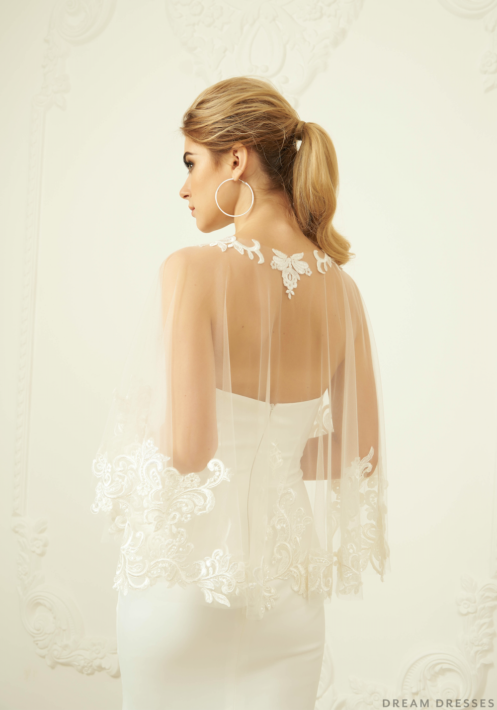 Lace Wedding Cape (#MAGGIA )