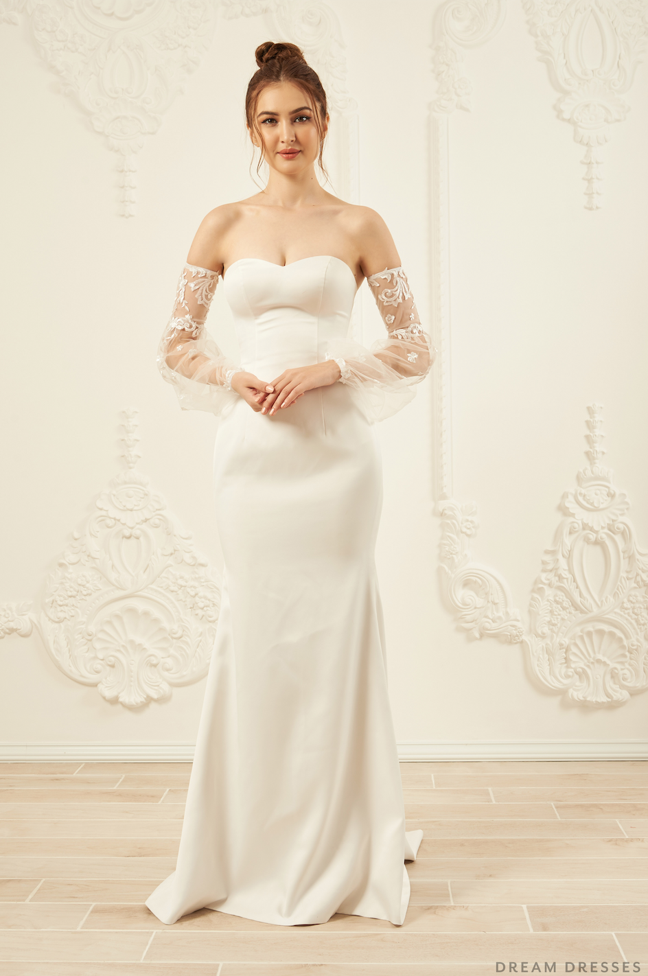 Detachable Sleeves for Wedding Dress (#ANAIS)
