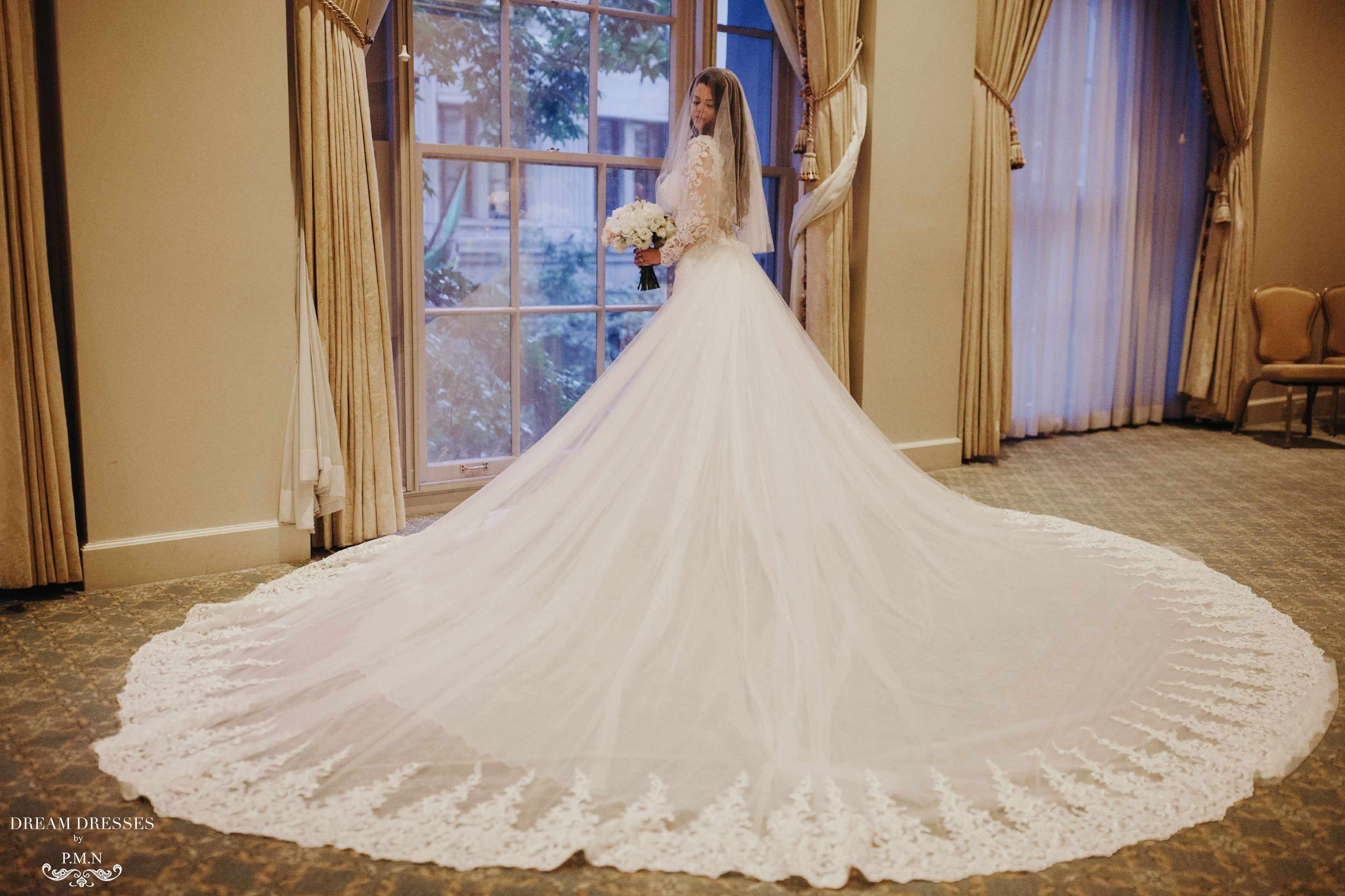 Detachable Cathedral Wedding Train (#Tessa)