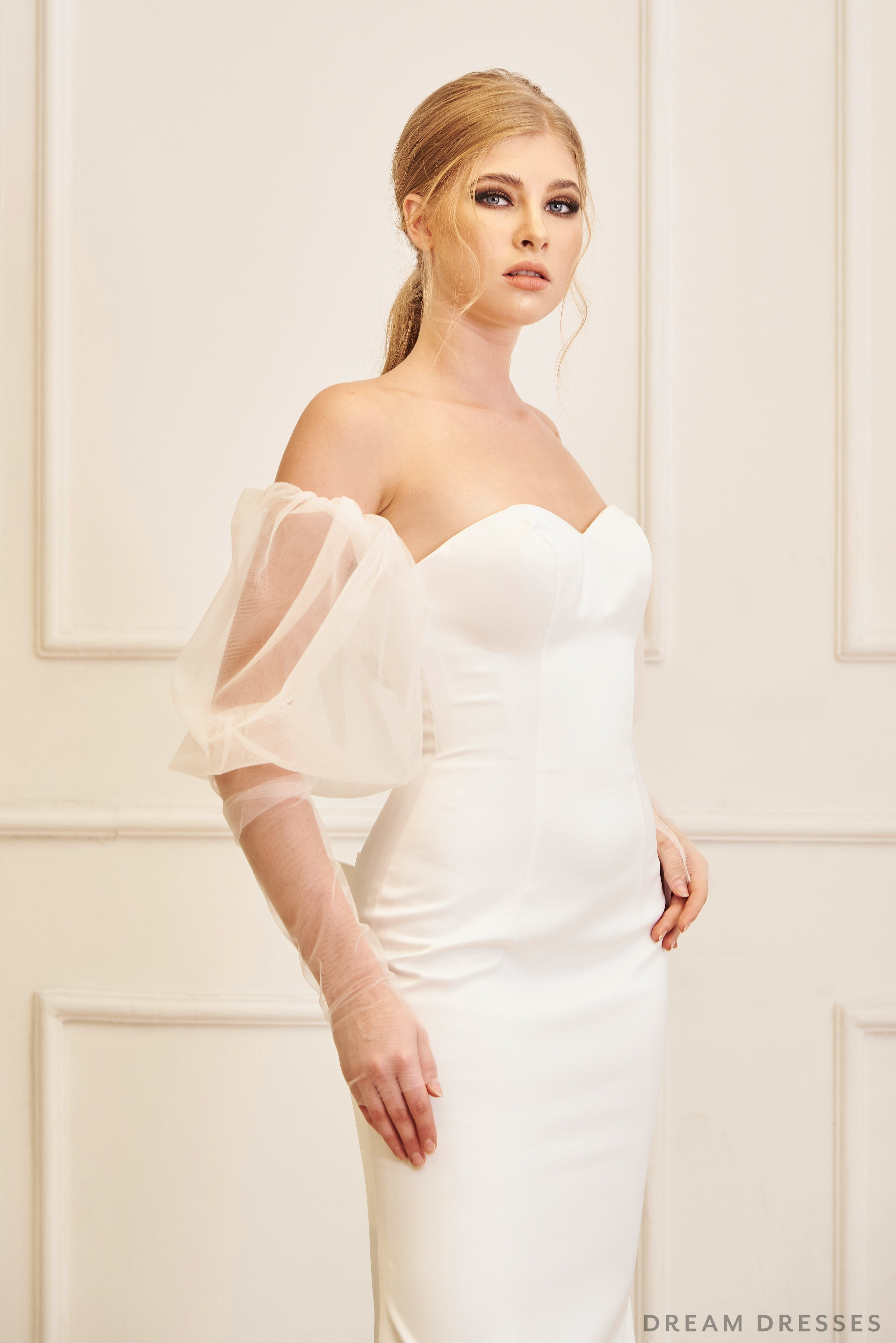 Detachable Bridal Sleeves (#VALE)