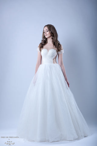 Tulle Ball Gown Wedding Dress (#Kennadie) - Dream Dresses by P.M.N  - 1